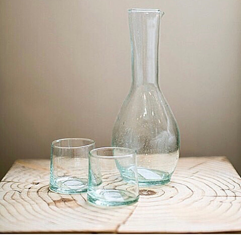 Handblown Moroccan Glass Carafe