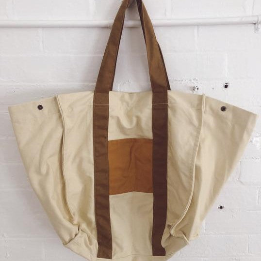 Native Oversized Canvas Beach Bag
