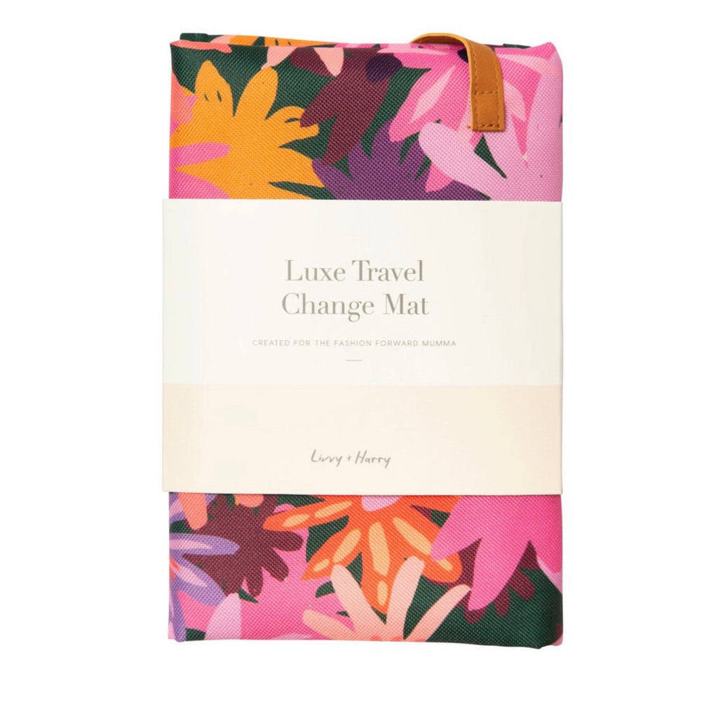 Travel Baby Change Mat Colourpop Floral