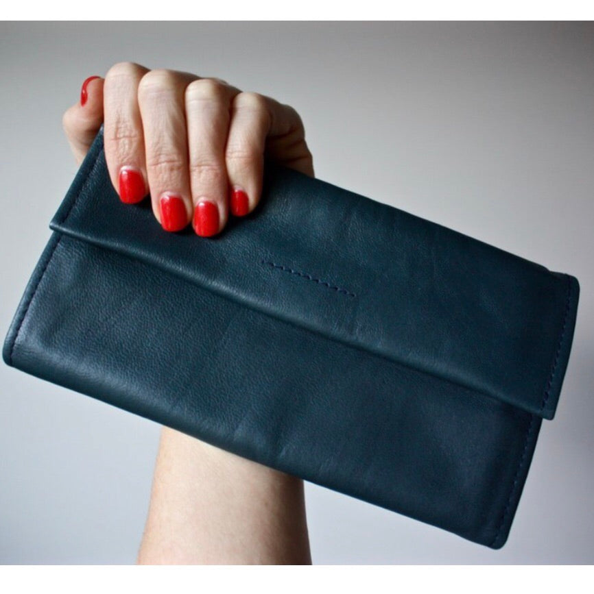 Arlo Leather Wallet - Navy