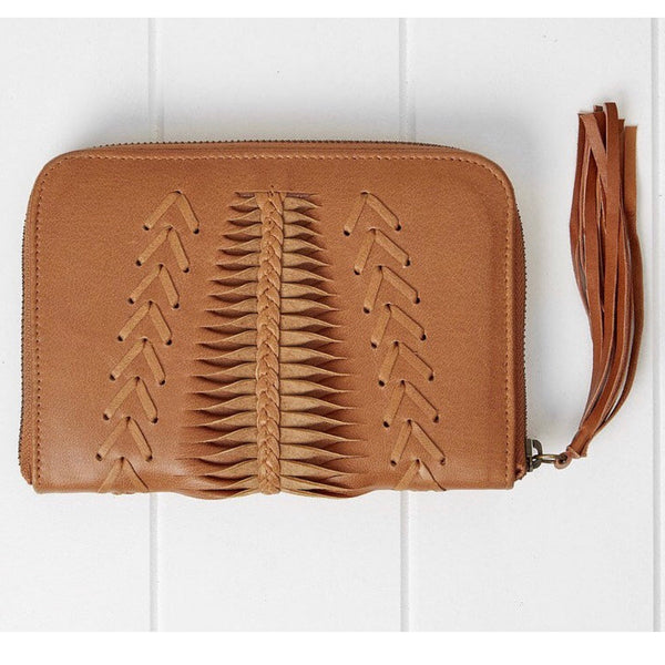 Benson Zip Wallet Chestnut