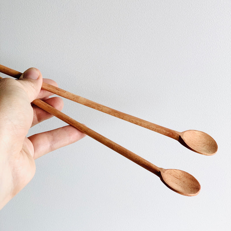 Wooden Long Handled Spoon