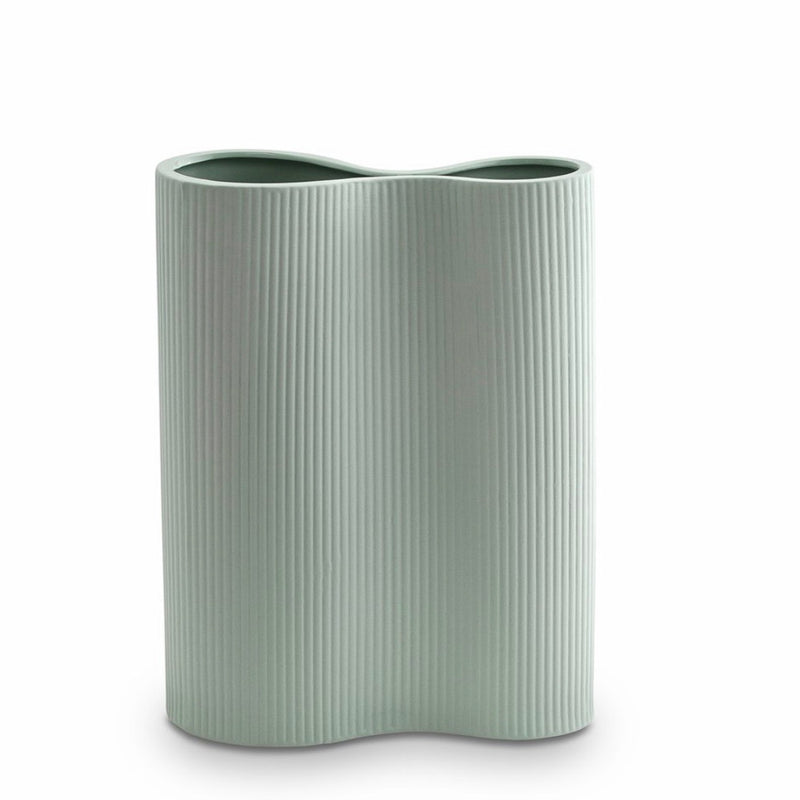Ribbed Infinity Vase - Blue (M)