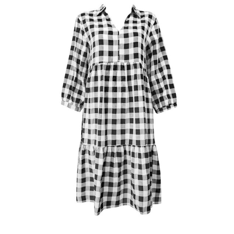 Tiered Dress - Gingham