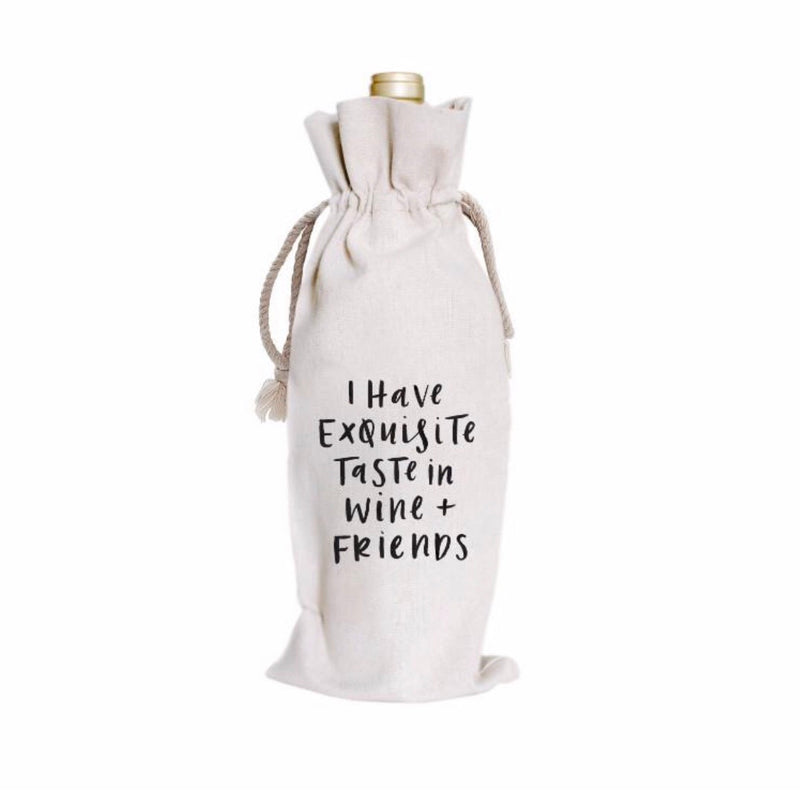 Exquisite Taste Canvas Wine Bag