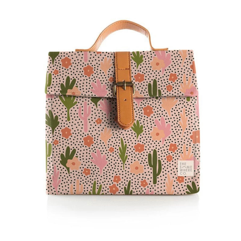 Lunch Satchel - Blooming Cacti