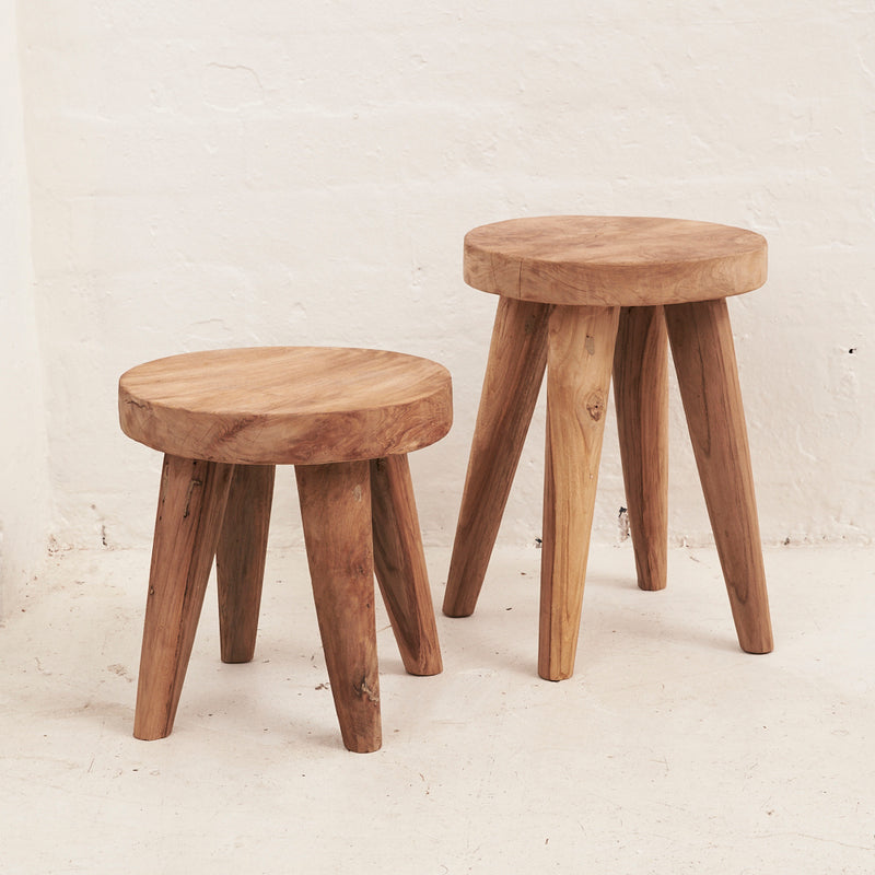 Rokha Stool with Four Legs - Small