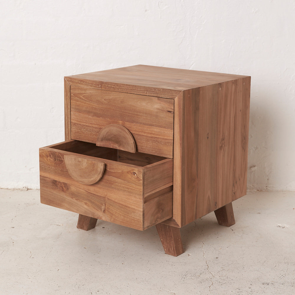 Jayna Teak Bedside Table