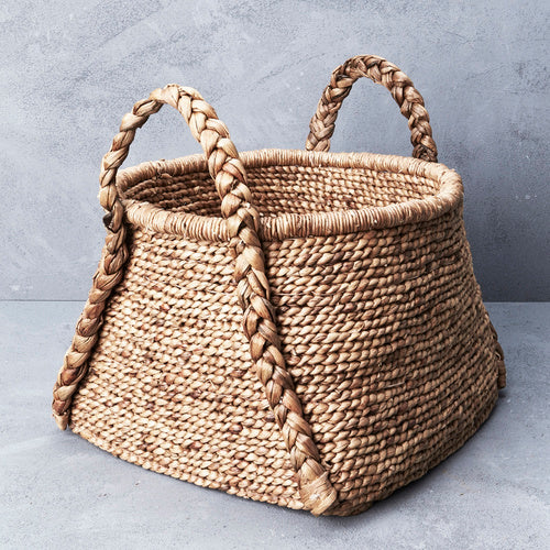 Waterhyacinth Rounded Square Basket