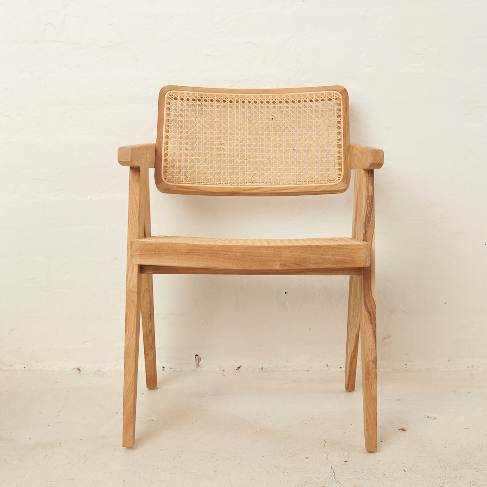 Rattan Squared Off Chair