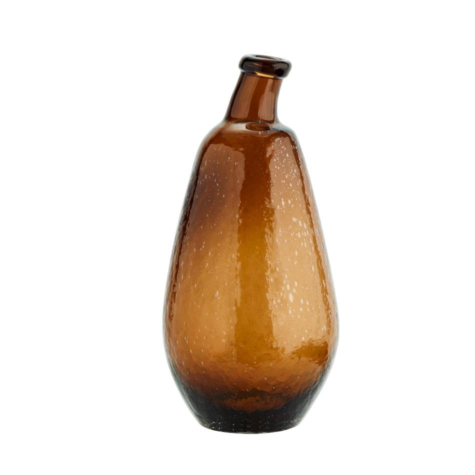 Wonky Glass Vase - Brown