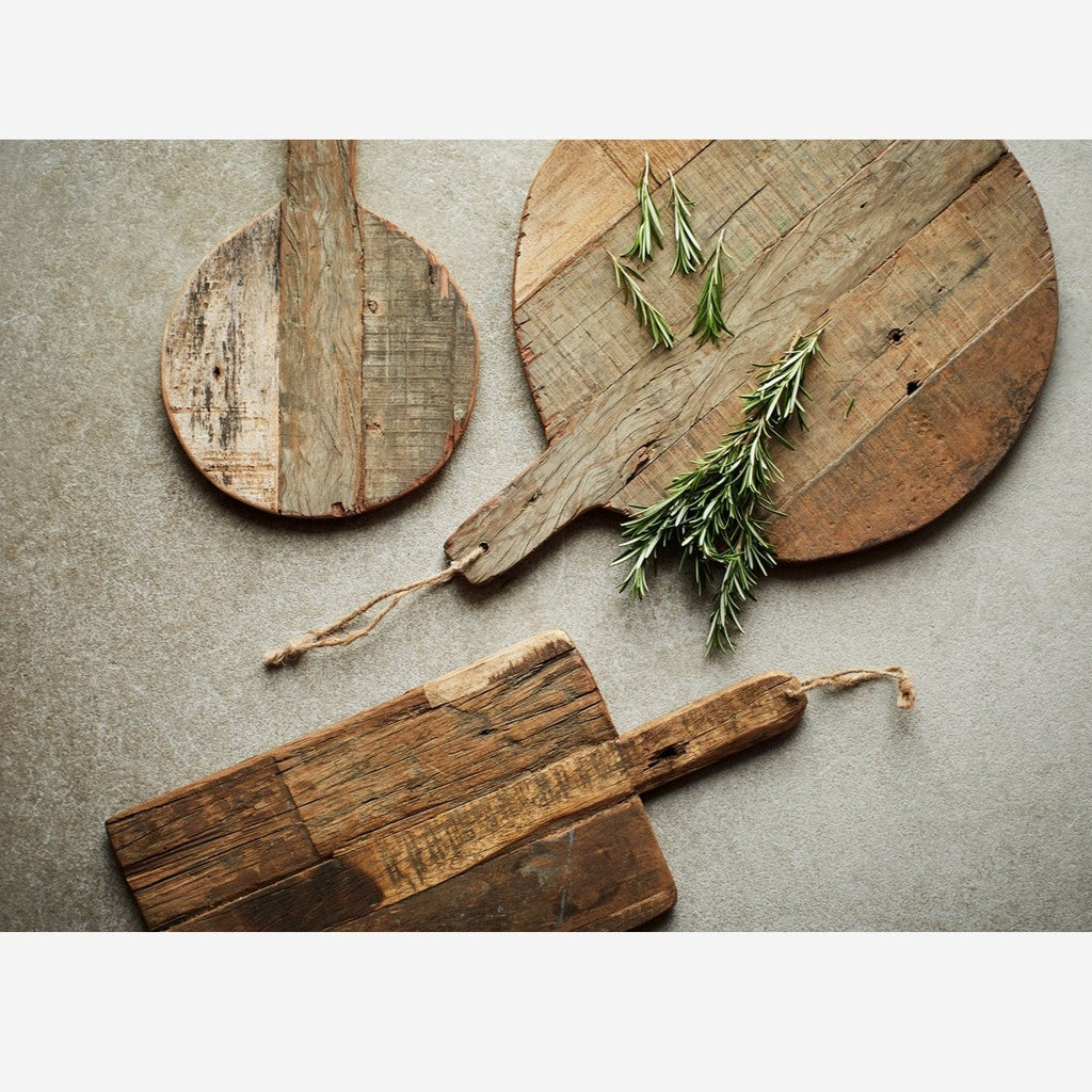 Recycled Wood Serving Board Set