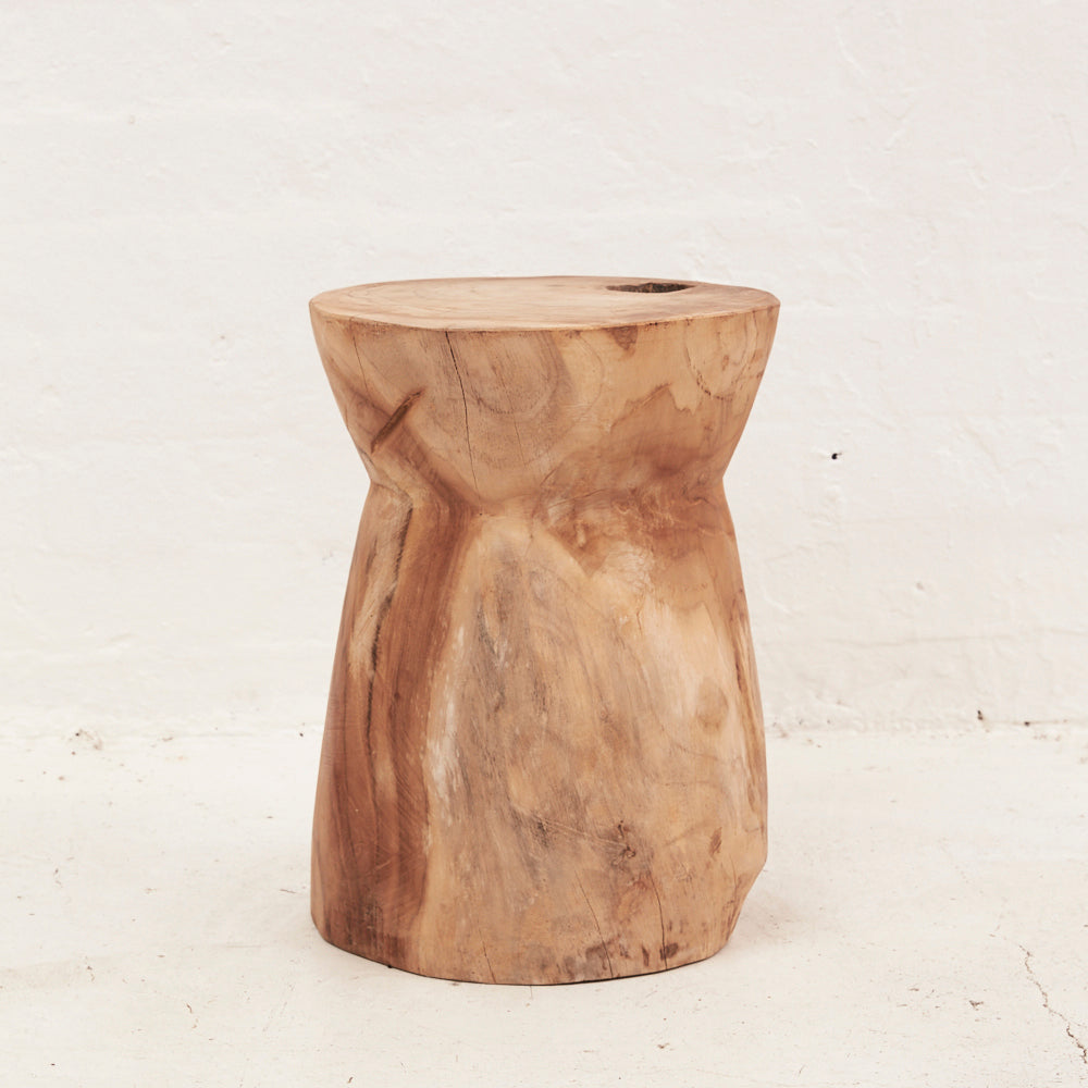 Nail Head Tree Stump Stool