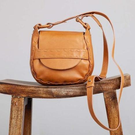 Pablo Stitch Saddle Bag - Caramel