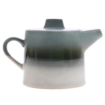 Ceramic 70's Tea Pot - Glacier