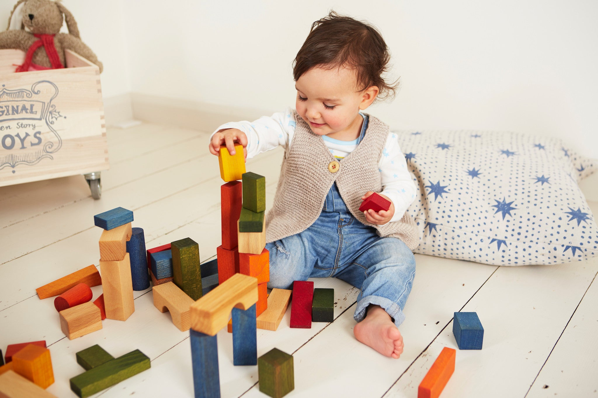 Wooden Story Blocks Teethers and Stacking Toys