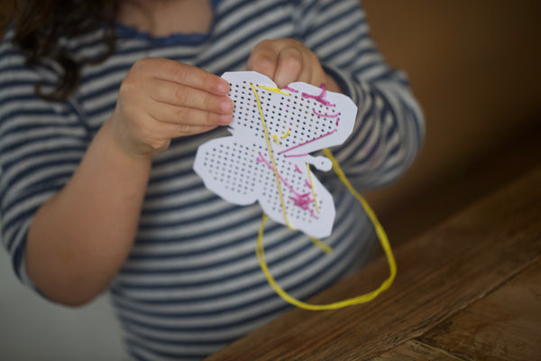 Craft Ideas for Kids | Easter Inspired Embroidery Board Decorations