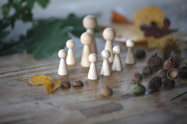 Wooden Peg Dolls Autumn Craft