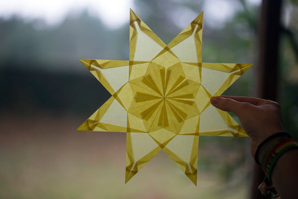 finished paper star