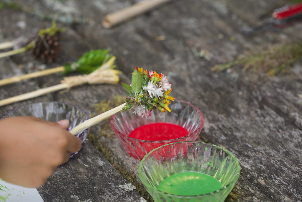 Craft ideas for kids nature paint brushes conscious craft for Painting with nature items