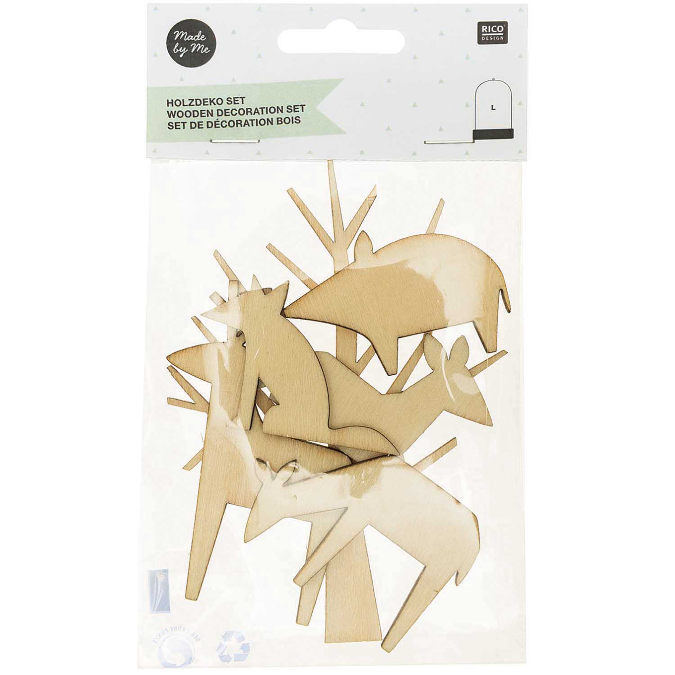 Wooden Deco Set | Large Forest Animals