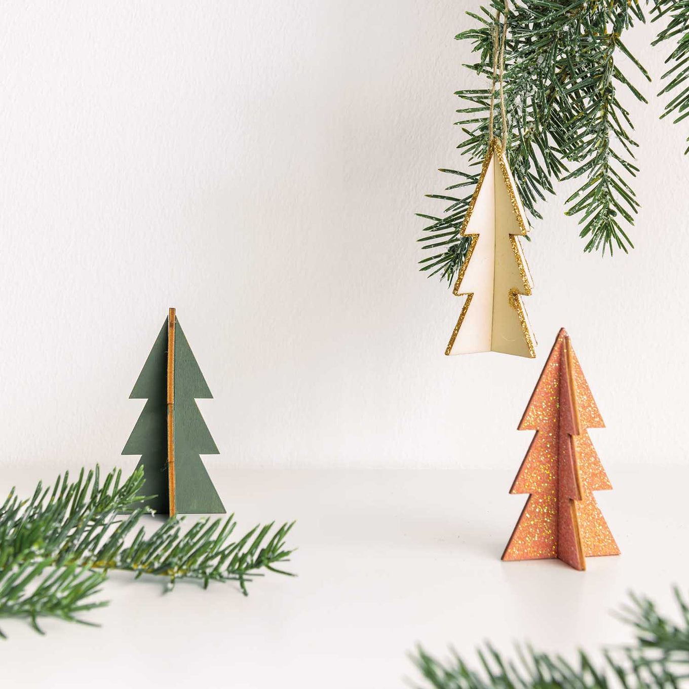 Wooden Deco Set Diy 3d Fir Trees Conscious Craft