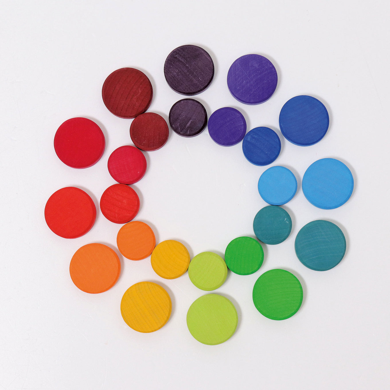 Wooden Rainbow Coins