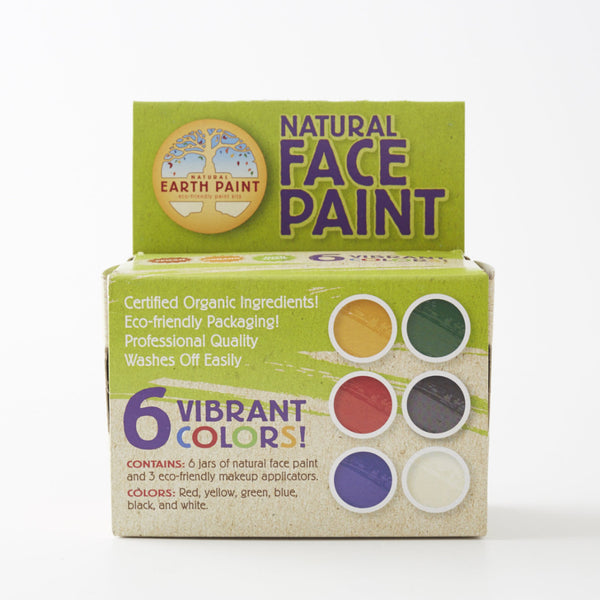 Natural Earth Face Paint, 6 Colours - Conscious Craft
