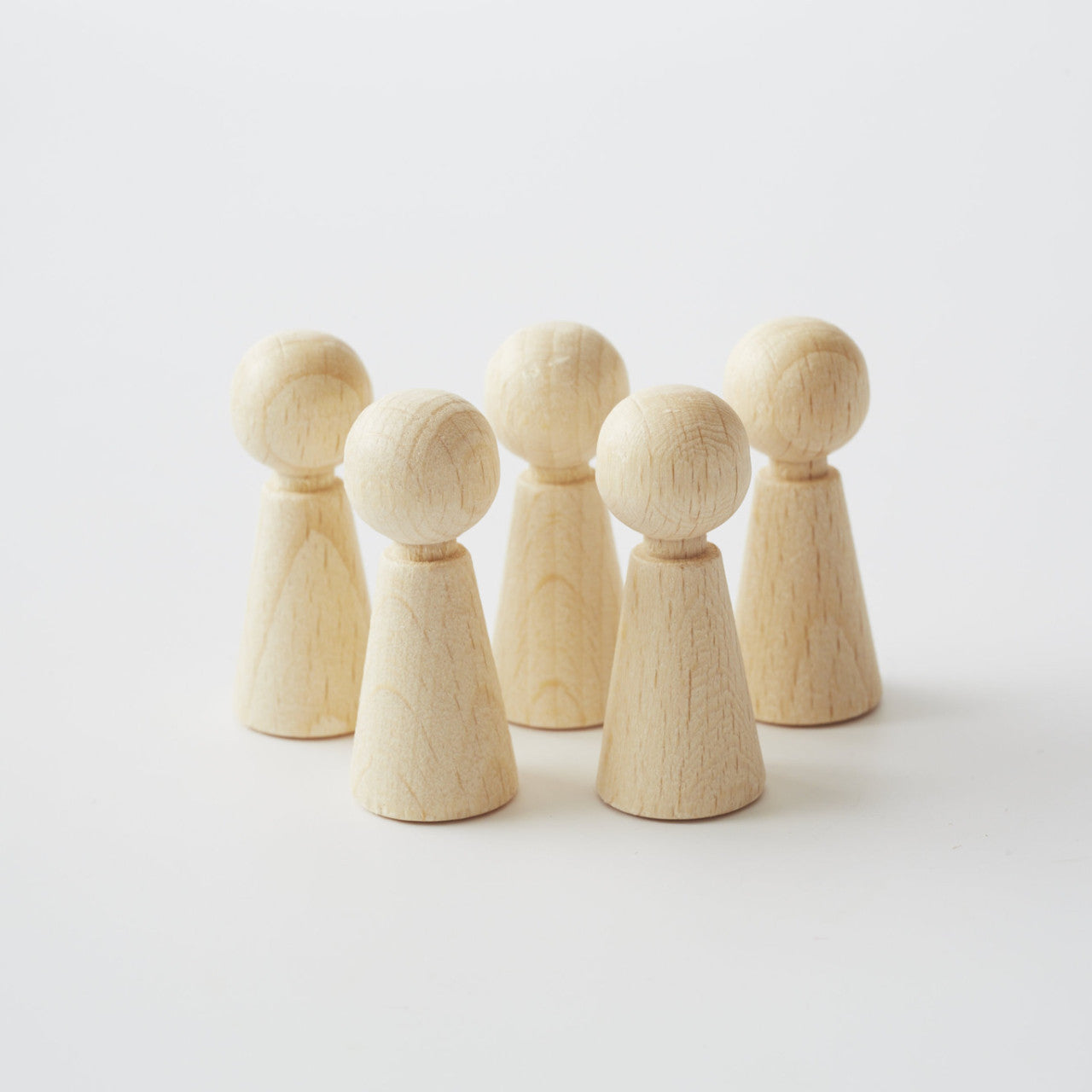 Unpainted Wooden Peg Dolls