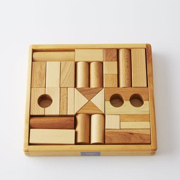 30 Natural Wooden Blocks from Wooden Story
