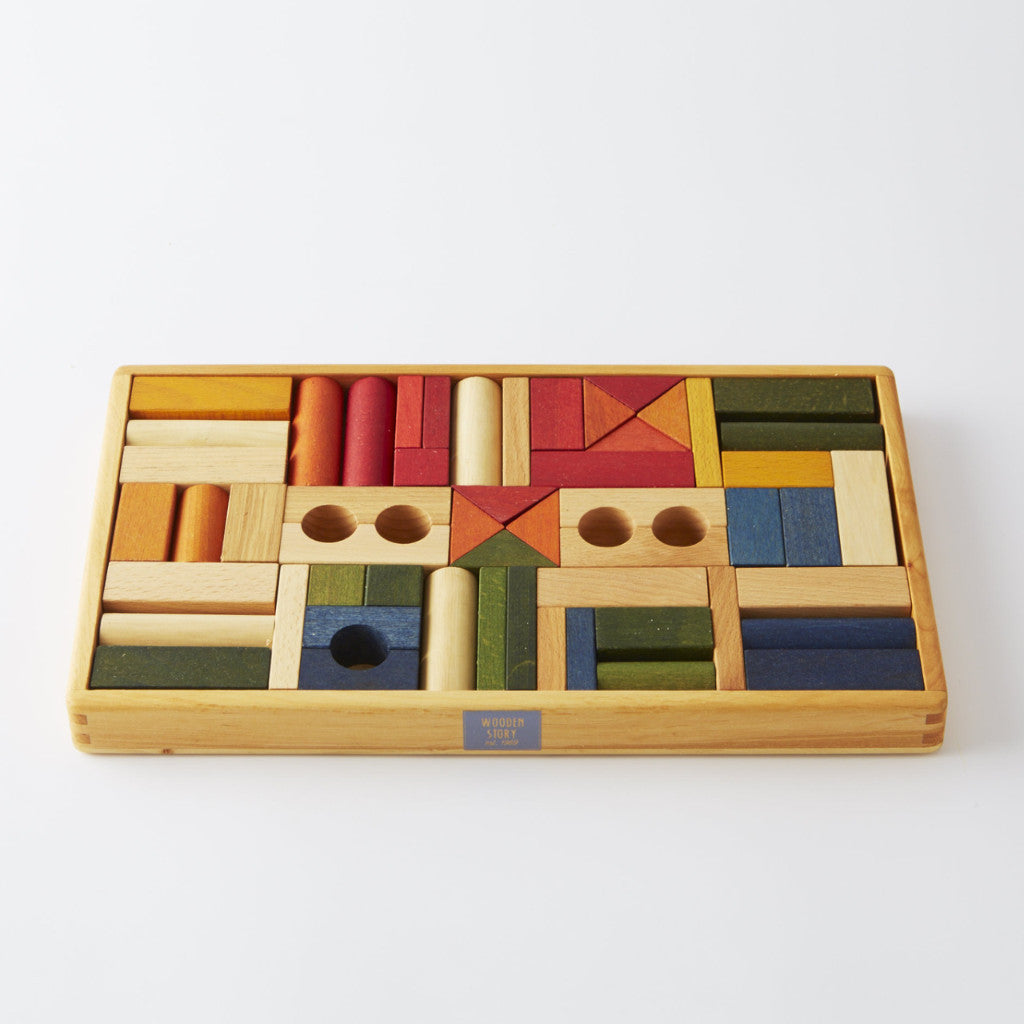 Wooden Blocks For Crafts ~ Wooden blocks rainbow natural conscious craft