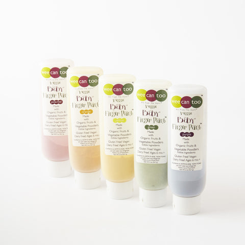 Veggie Finger Paints from WeeCanToo