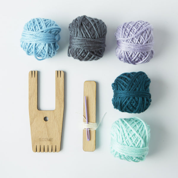 Loome Pom pom Kit and Weaving Tool from Conscious Craft