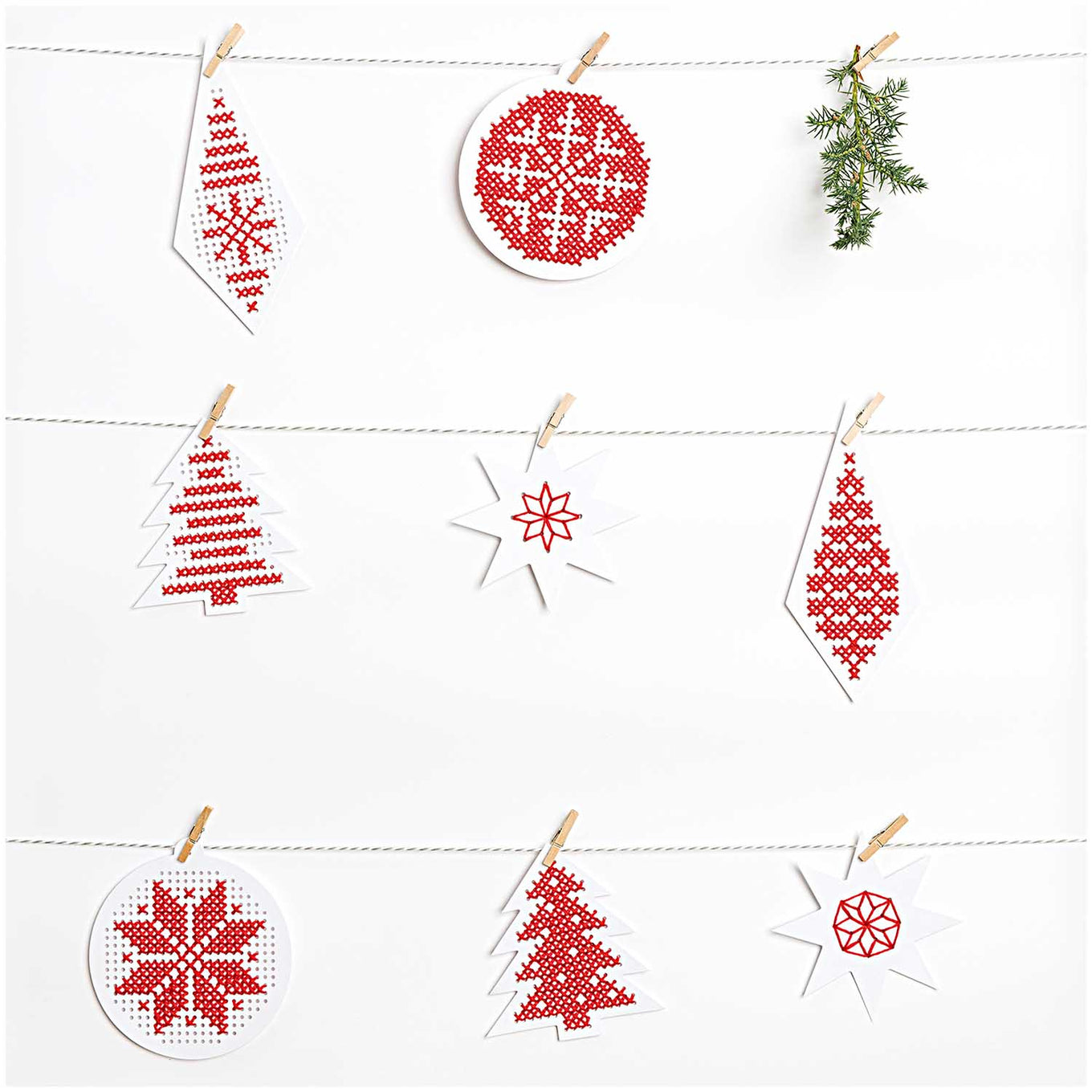 Christmas Embroidery Board Kit With Thread
