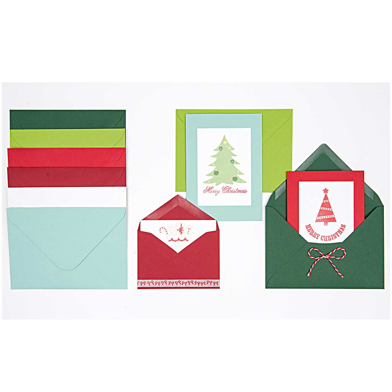 Plain Christmas Card and Envelope Set