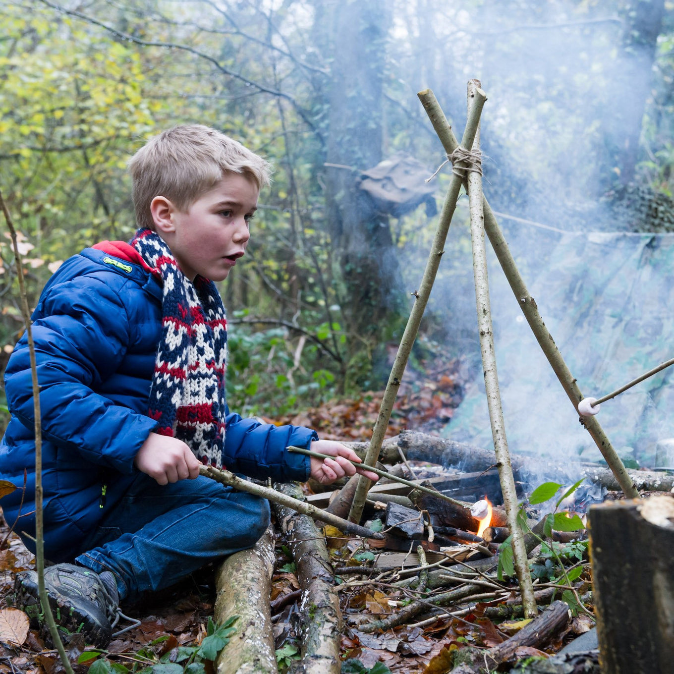 The Forest School Den