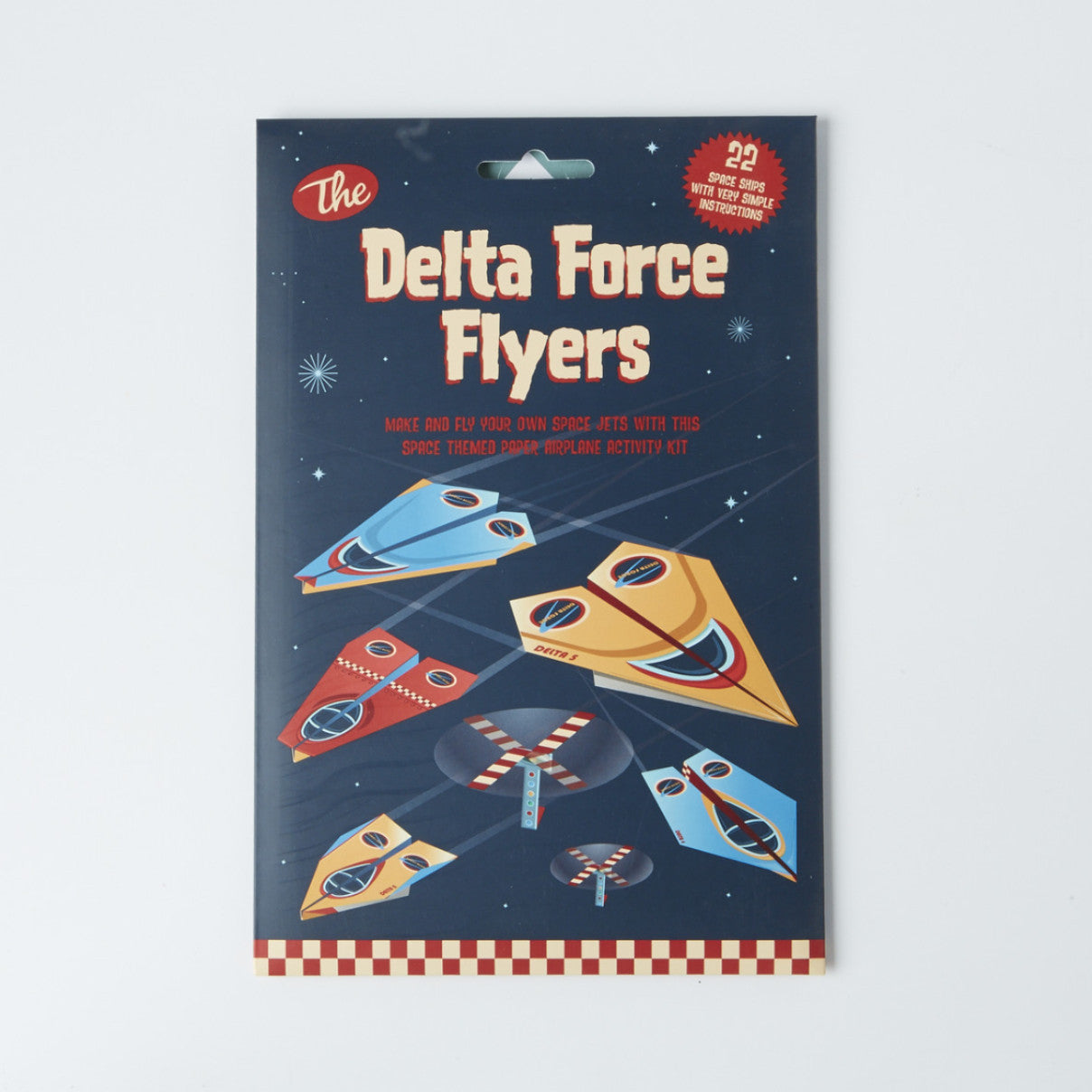 Delta Force Flyers - Space Style Paper Airplane Kit