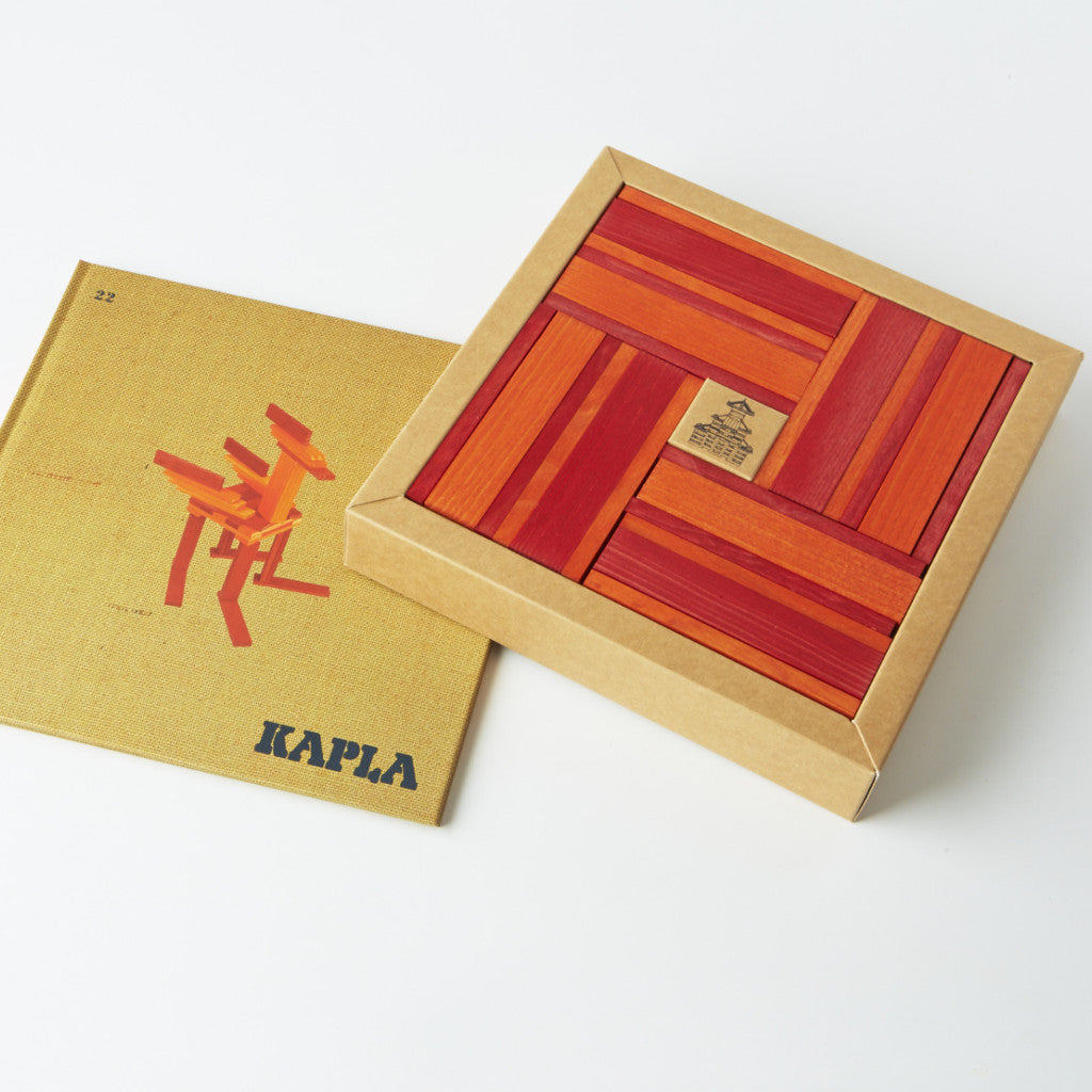 Kapla: Red & Orange with Booklet