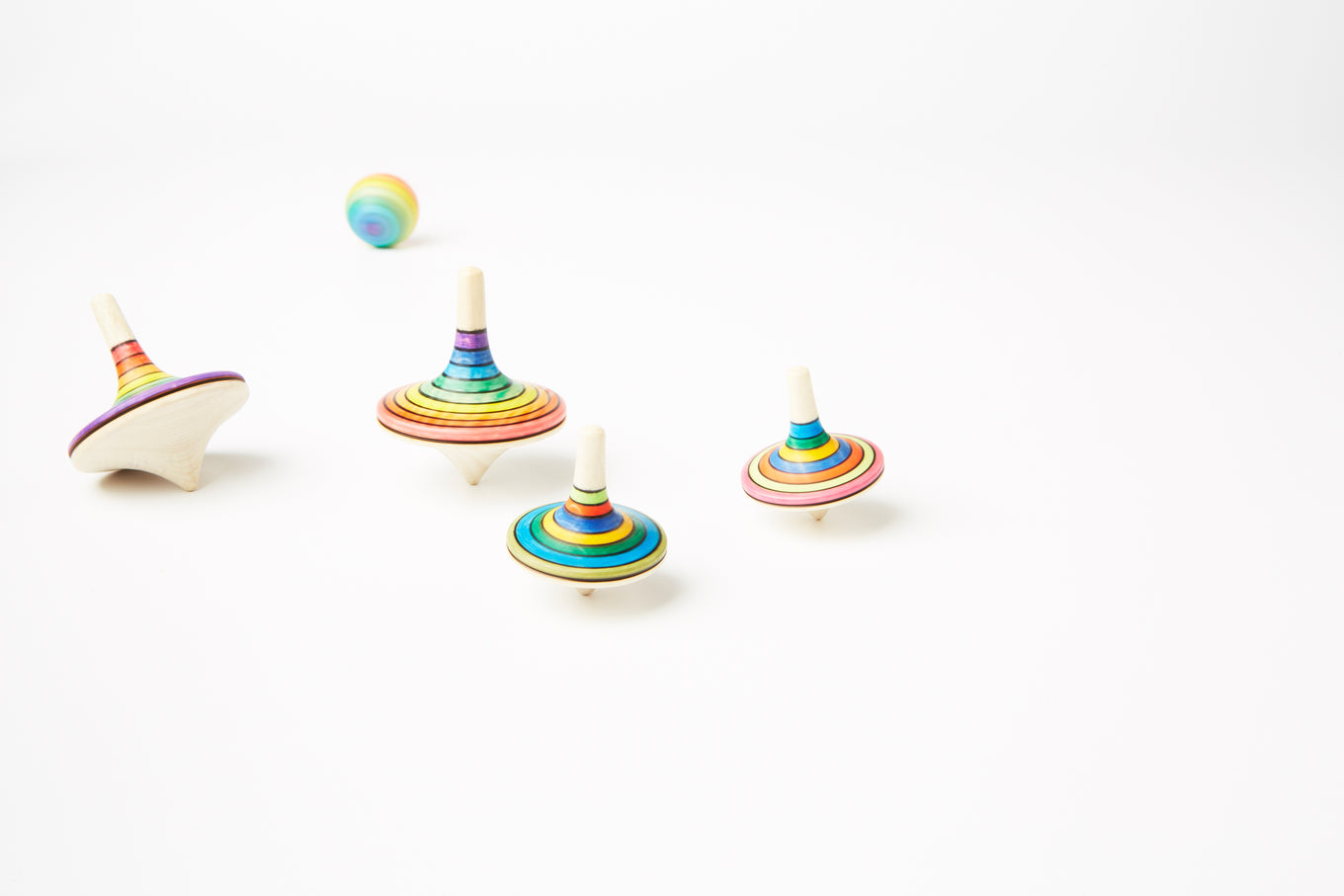 Small Rallye Striped Spinning Top