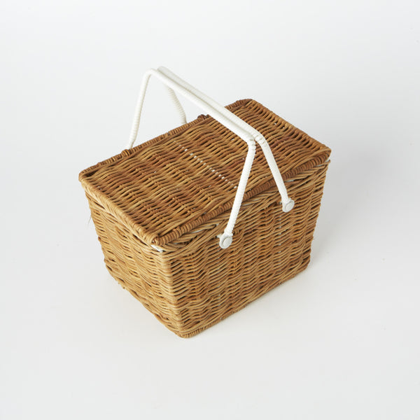 Mini Pinyin Basket in Natural By Ollie Ella