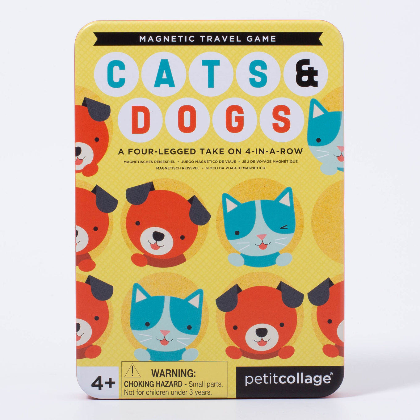 Magnetic Travel Game | Cats & Dog Four in a Row