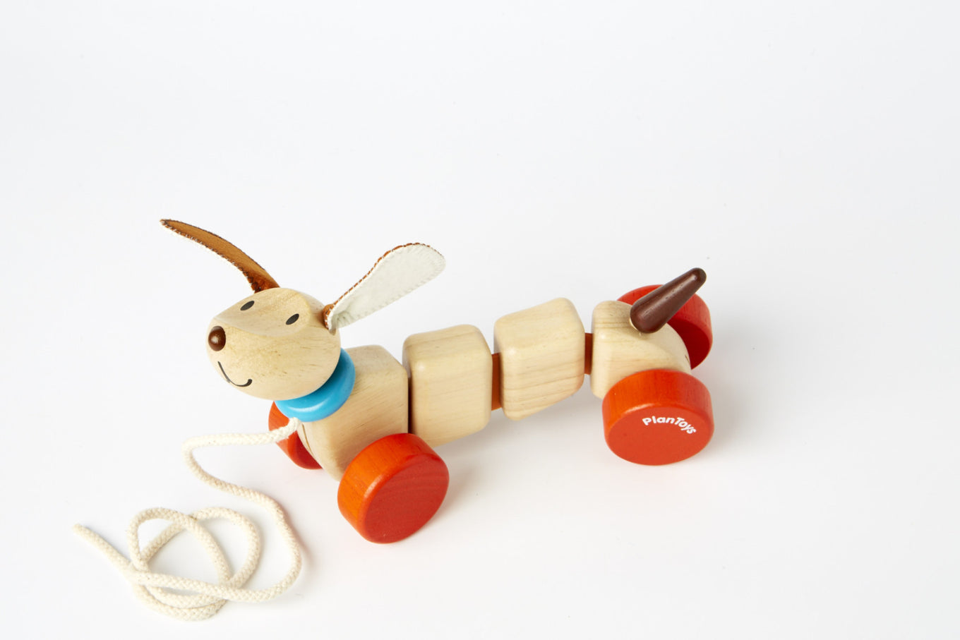 Plan Toys: Wooden Pull Along Happy Puppy for Little ...