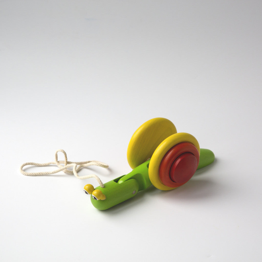 Pull Along Wooden Snail