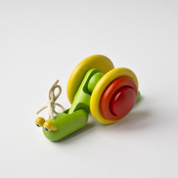 Plan Toys Pull-Along Snail - Conscious Craft