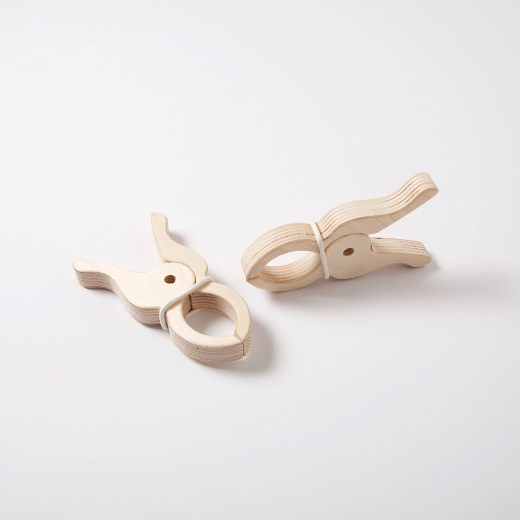 Giant Wooden Play Clips | Set of 2