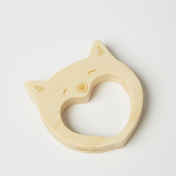 WoodenStory Smily Cat Teether