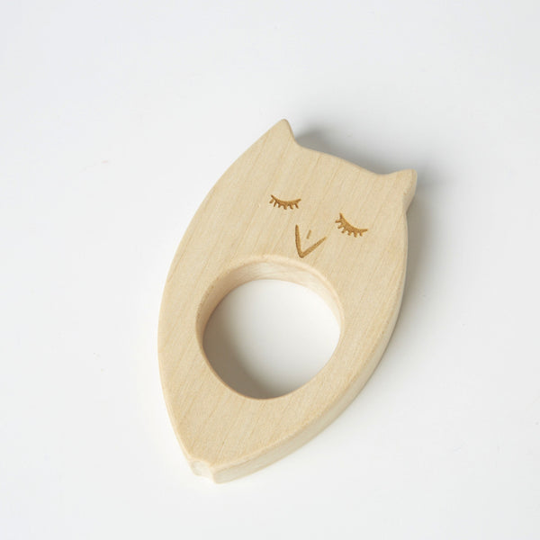 Owl Teether by Wooden Story