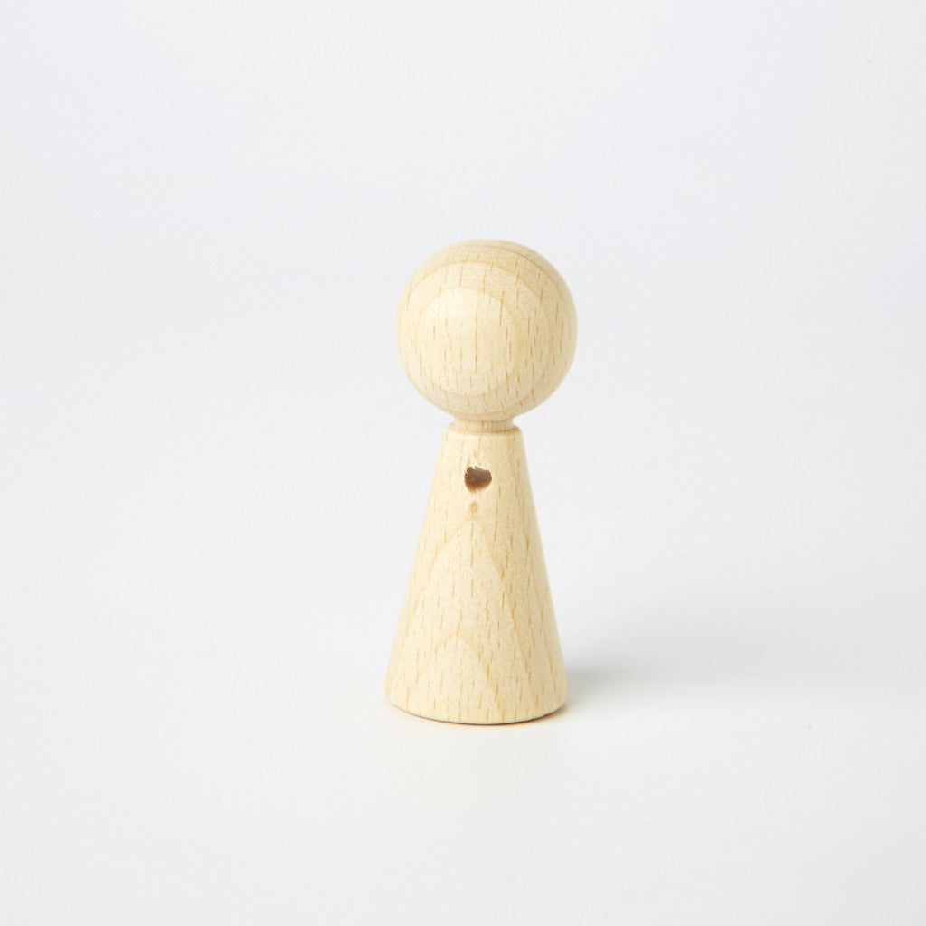 Unpainted Wooden Peg Dolls With Pre-Drilled Arm Hole