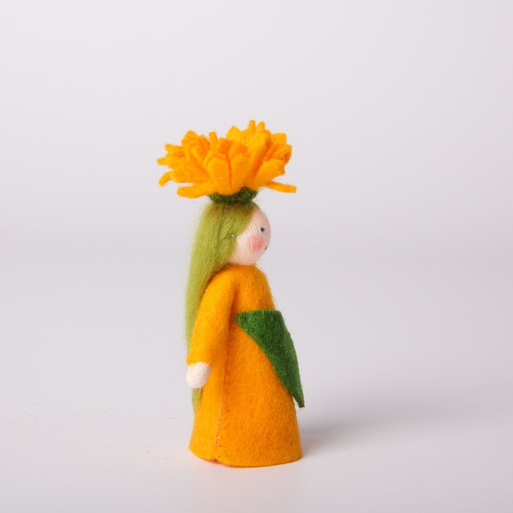 Flower Fairy with Flower on Head | Calendula