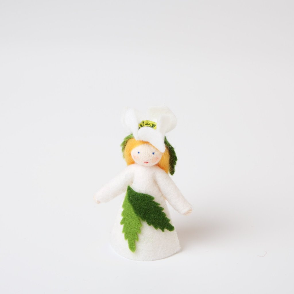 Flower Fairy with Flower on Head | Christmas Rose